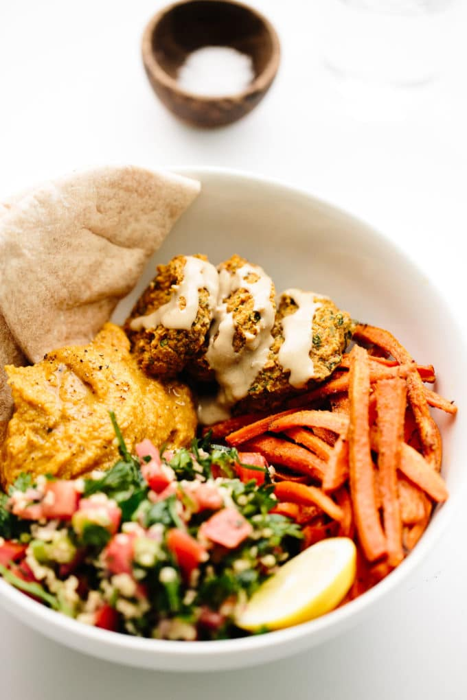 Vegan Fully Loaded Fall Falafel Bowls