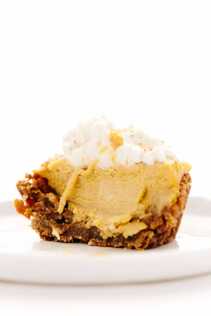 Mini Vegan Pumpkin Almond Cheesecakes