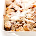 Vegan Eggnog French Toast Casserole