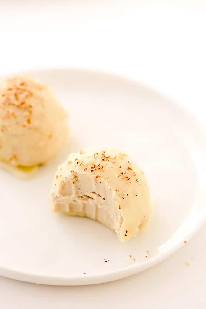 Vegan Eggnog Truffles