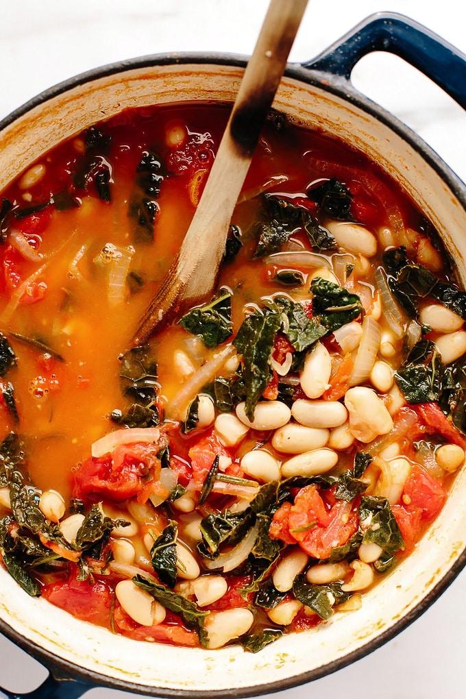 Vegan Tuscan Kale White Bean Stew