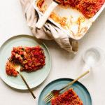 Easy Vegan Spinach Alfredo Lasagna