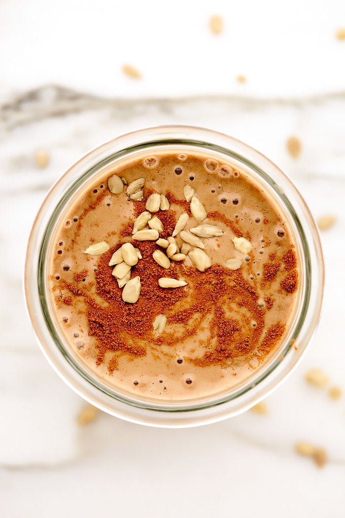 Sunflower Cinnamon Maca Smoothie