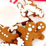 Vegan Gluten-Free Iced Gingerbread Cookies