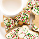 Vegan Gluten-Free Iced Holiday Shortbread Cookies