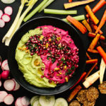 Vegan Holiday Hummus Platter with Olive Oils from Spain