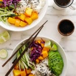 Beet + Mango Rice Bowls with Sesame Ginger Vinaigrette