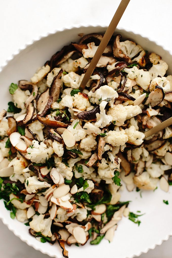 Roasted Cauliflower Shiitake Salad