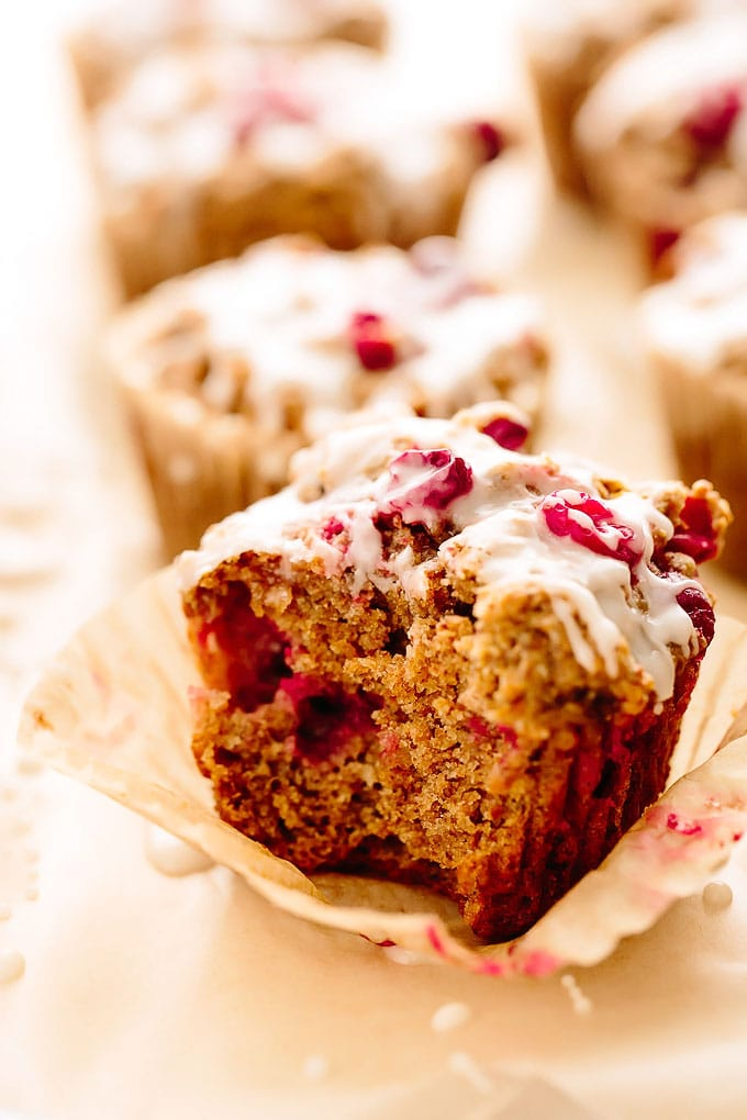 Vegan Cranberry Almond Orange Muffins