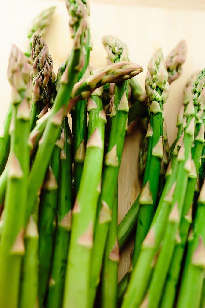 Vegan Creamy Spring Pea Asparagus Pasta