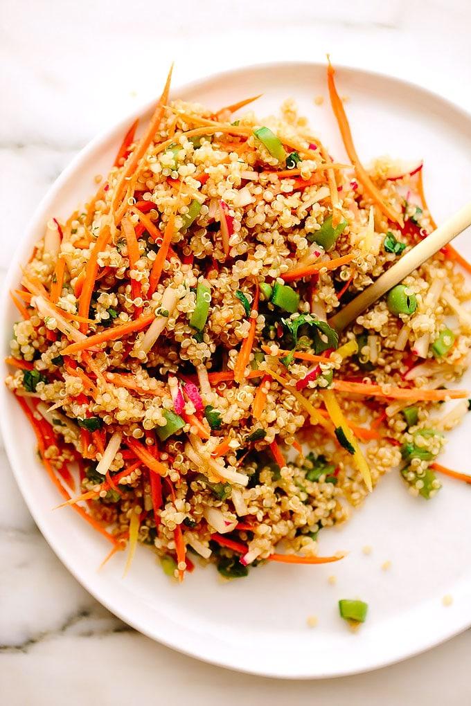 Spring Quinoa Salad with Sesame-Maple Dressing