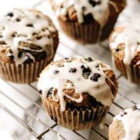 One Bowl Vegan Blueberry Muffins