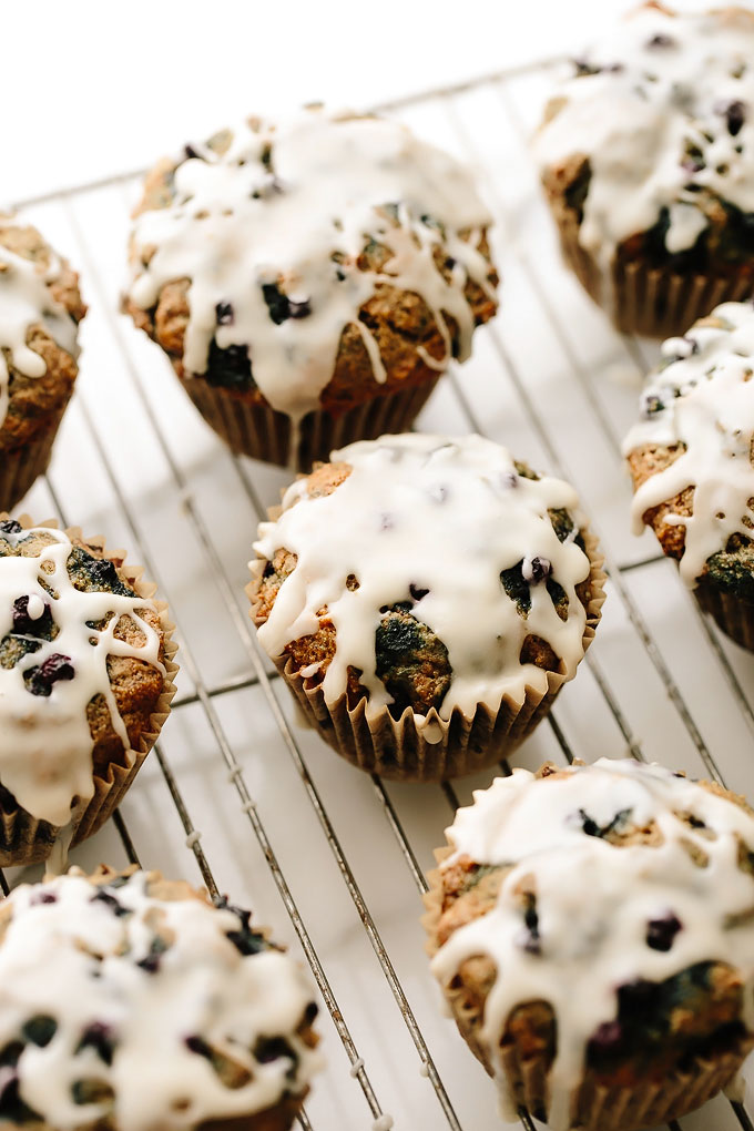 One Bowl Vegan Blueberry Muffins