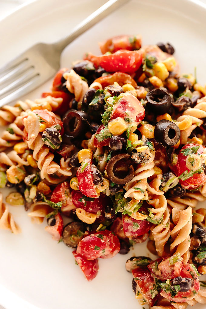 Southwest Vegan Pasta Salad