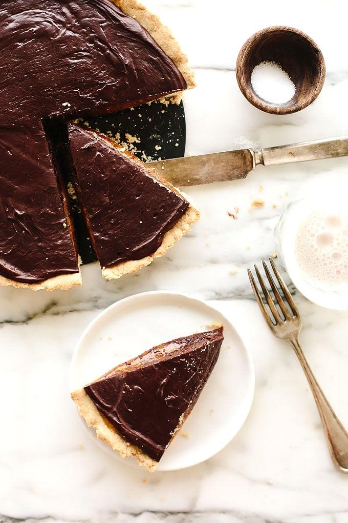 Vegan GF Caramel Chocolate Tart