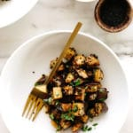 Roasted Sesame-Garlic Eggplant