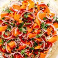 Vegan Everything Bagel Breakfast Pizza