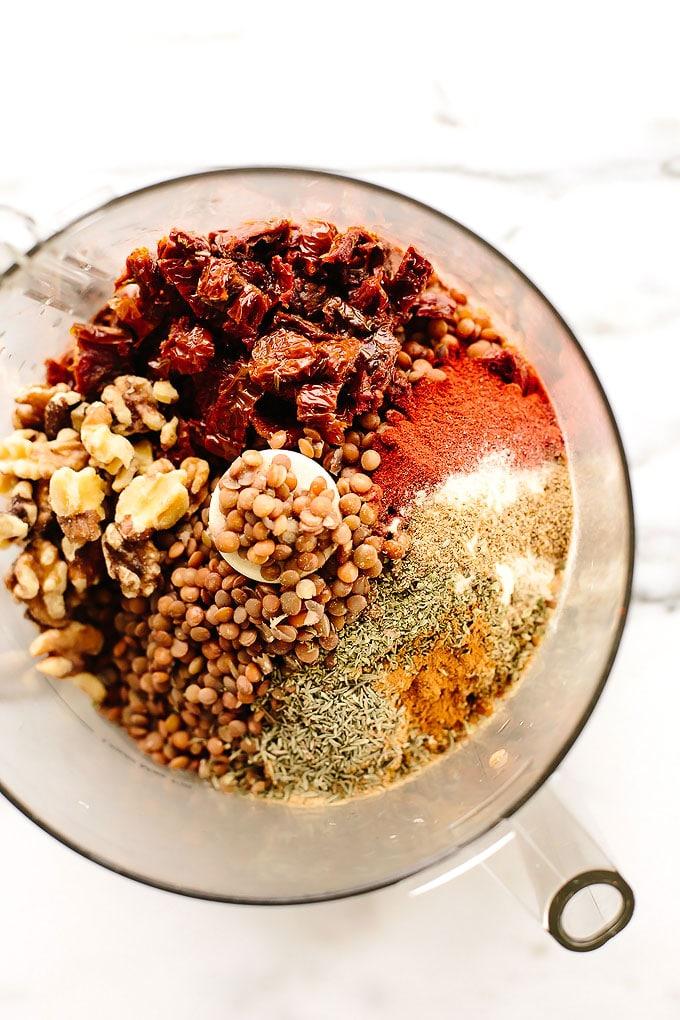 Vegan Walnut-Lentil Chorizo