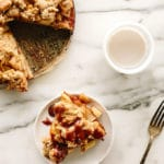 Vegan Caramel Apple Crumble Pie
