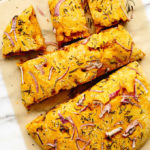 Vegan Pumpkin Focaccia Bread