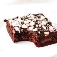 Vegan Mint Chocolate Chunk Brownies