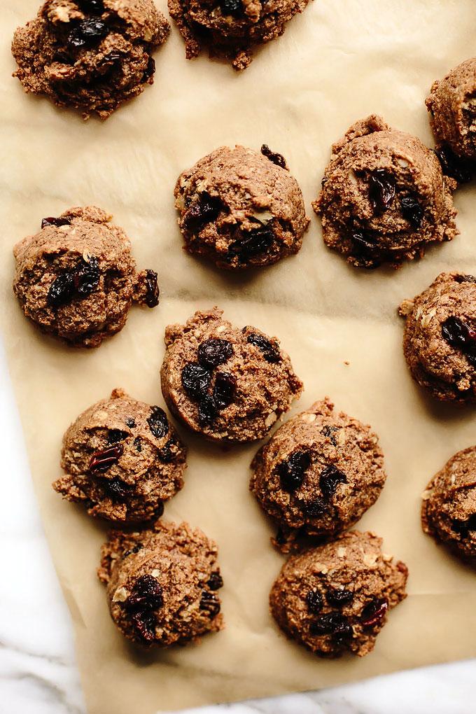 Vegan Oatmeal Raisin Almond Butter Cookies