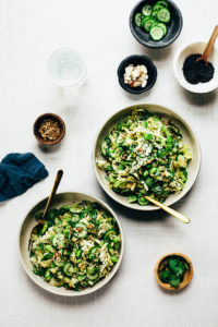 Nutty Green Veggie Crunch Salad