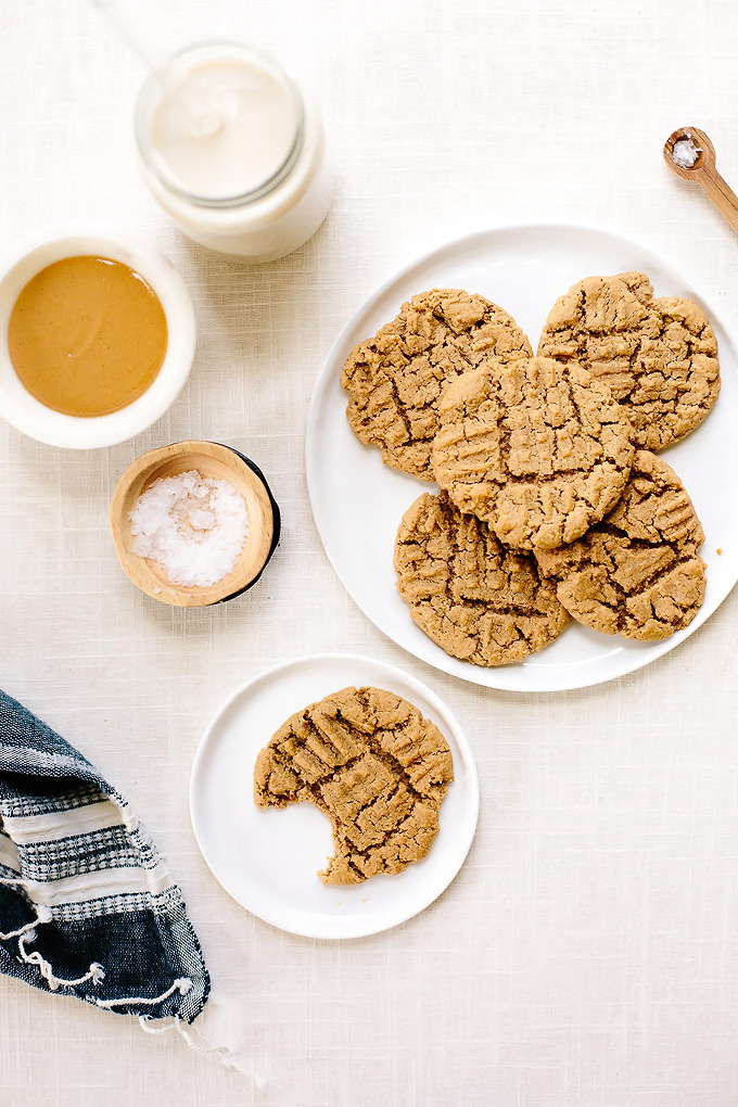 Soft And Tender Peanut Butter Cookies Vegan And Gluten Free