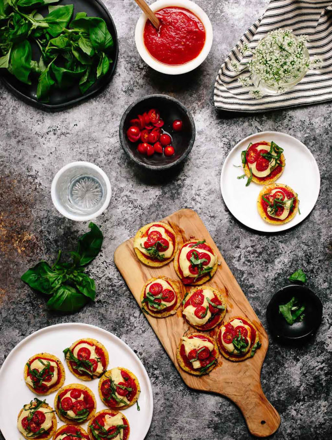 Vegan Polenta Pizza Bites