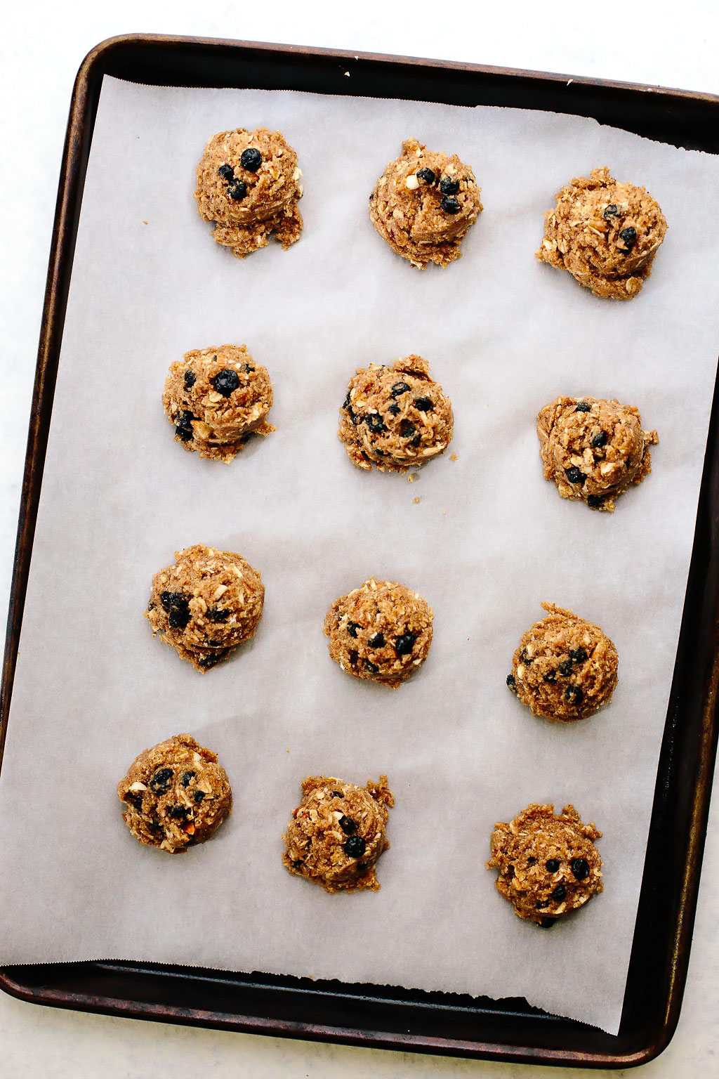 Vegan Blueberry Almond Oat Breakfast Cookies
