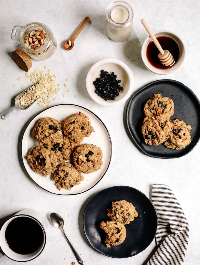 Vegan Blueberry Almond Oat Breakfast Cookies Recipe