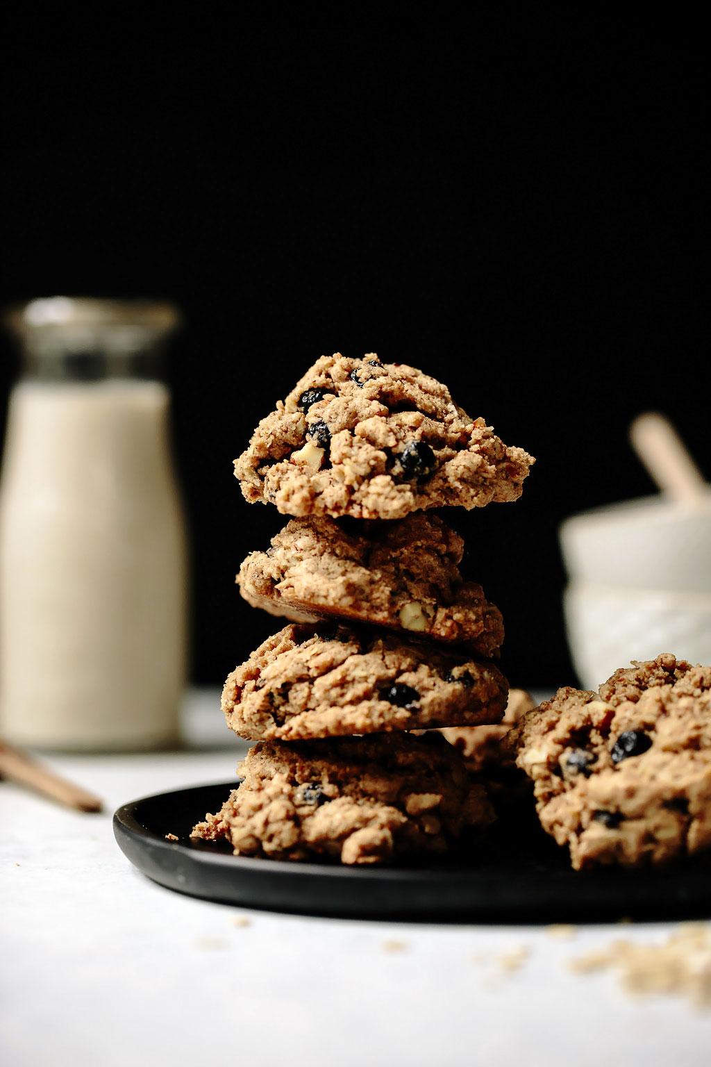 Vegan Blueberry Almond Oat Breakfast Cookies Recipe