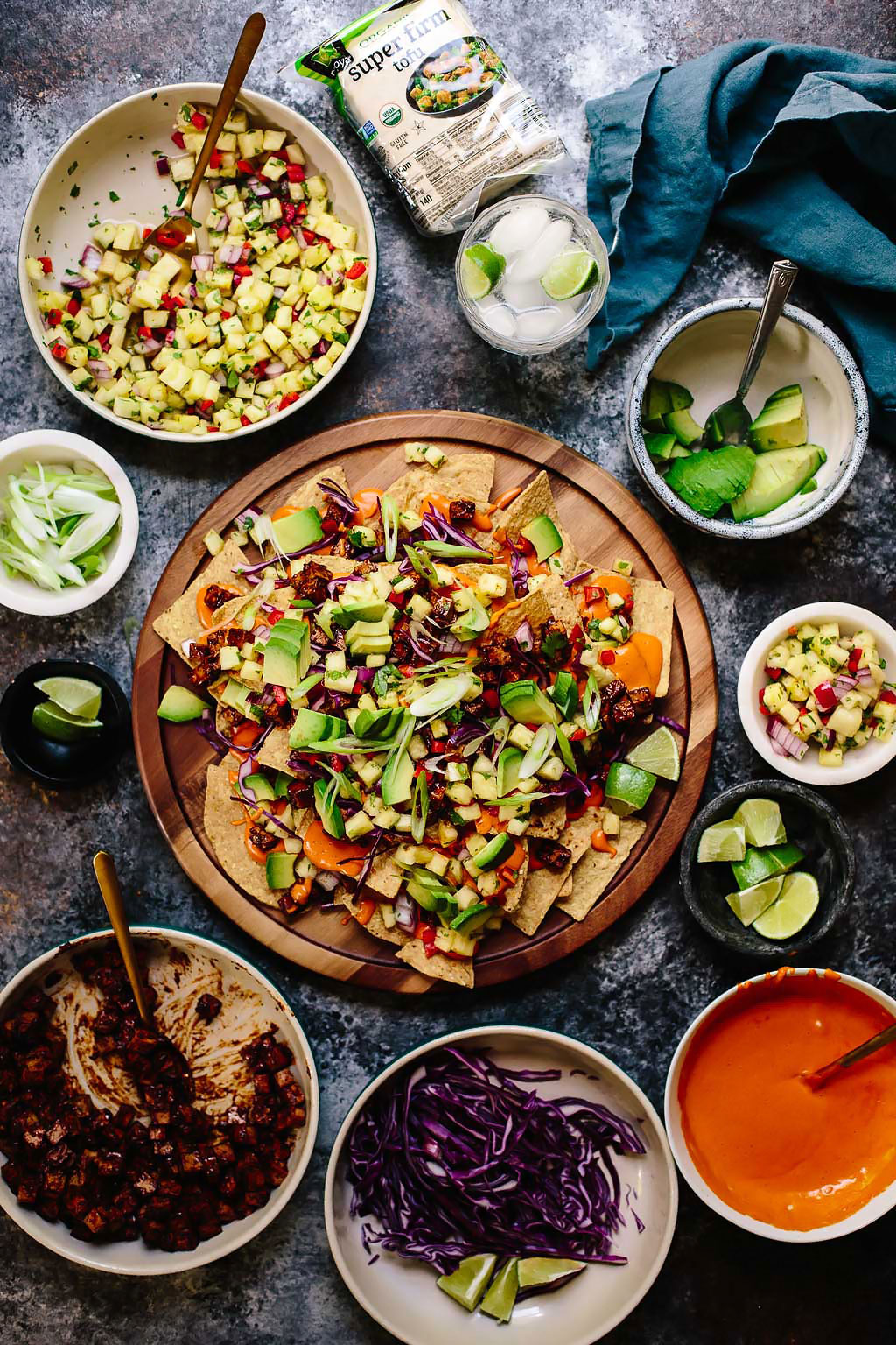 Vegan BBQ Tofu Summer Nachos with Pineapple Salsa Recipe Nasoya Tofu