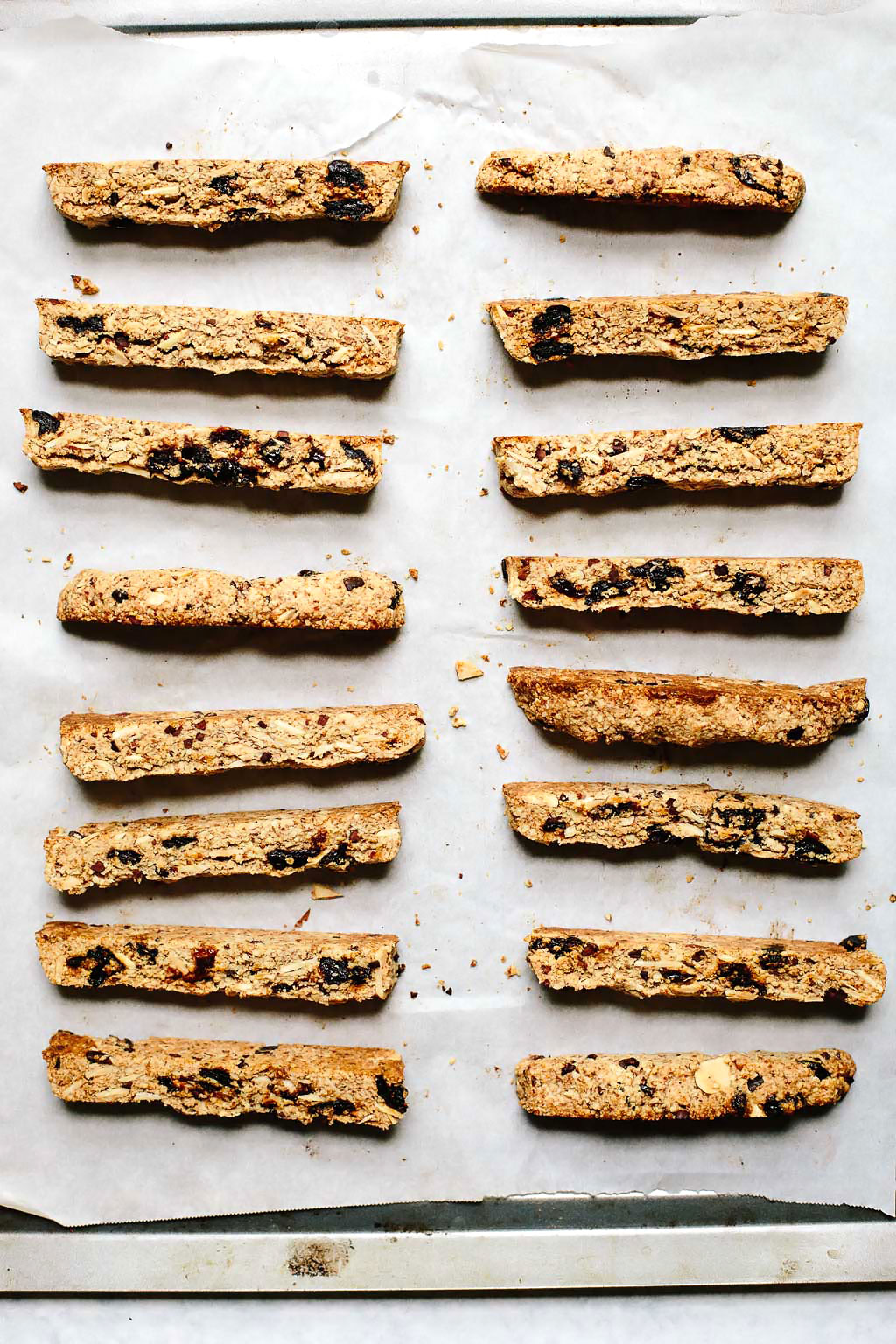 Vegan Cherry Chocolate Almond Biscotti