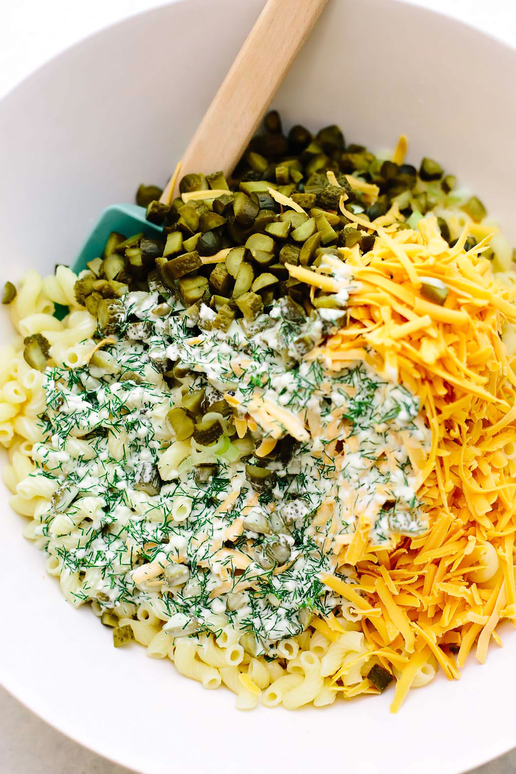 Vegan Dill Pickle Pasta Salad