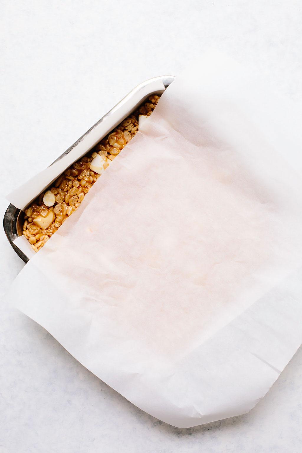 Vegan Peanut Butter Cup Rice Krispie Treats