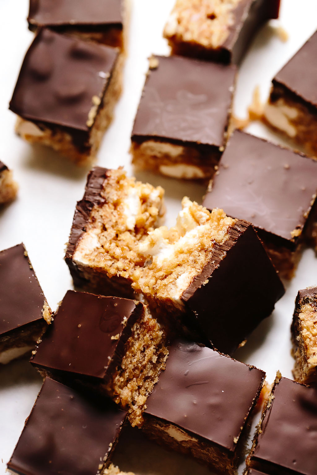 Vegan Peanut Butter Cup Rice Krispie Treats