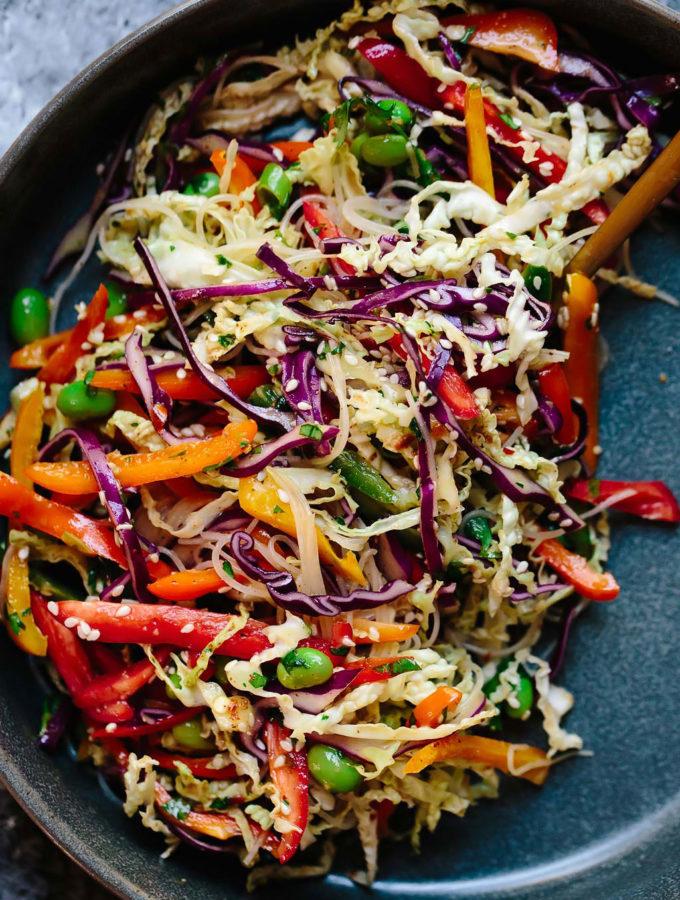 Rainbow Veggie Rice Noodle Bowls
