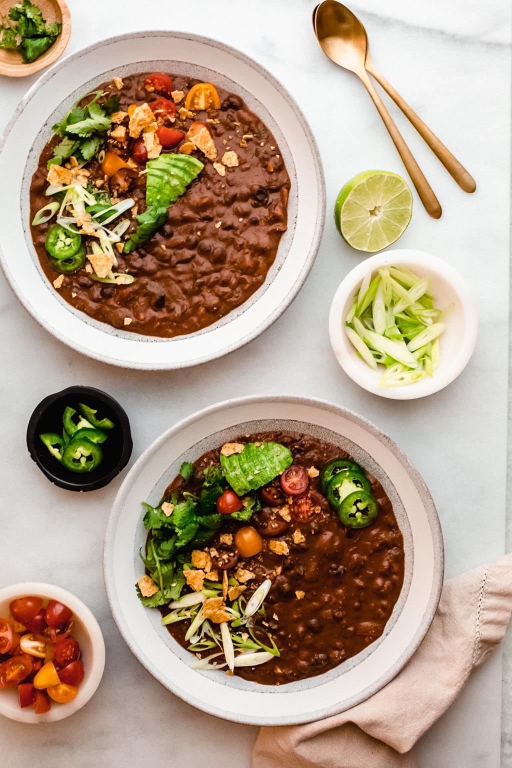 Vegan Black Bean Red Pepper Soup
