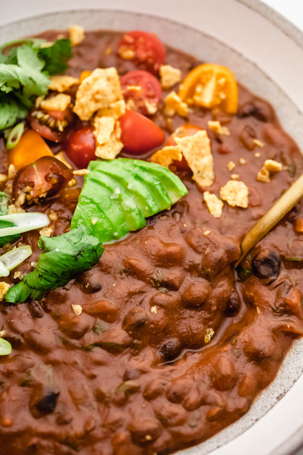 Vegan Black Bean Red Pepper Soup