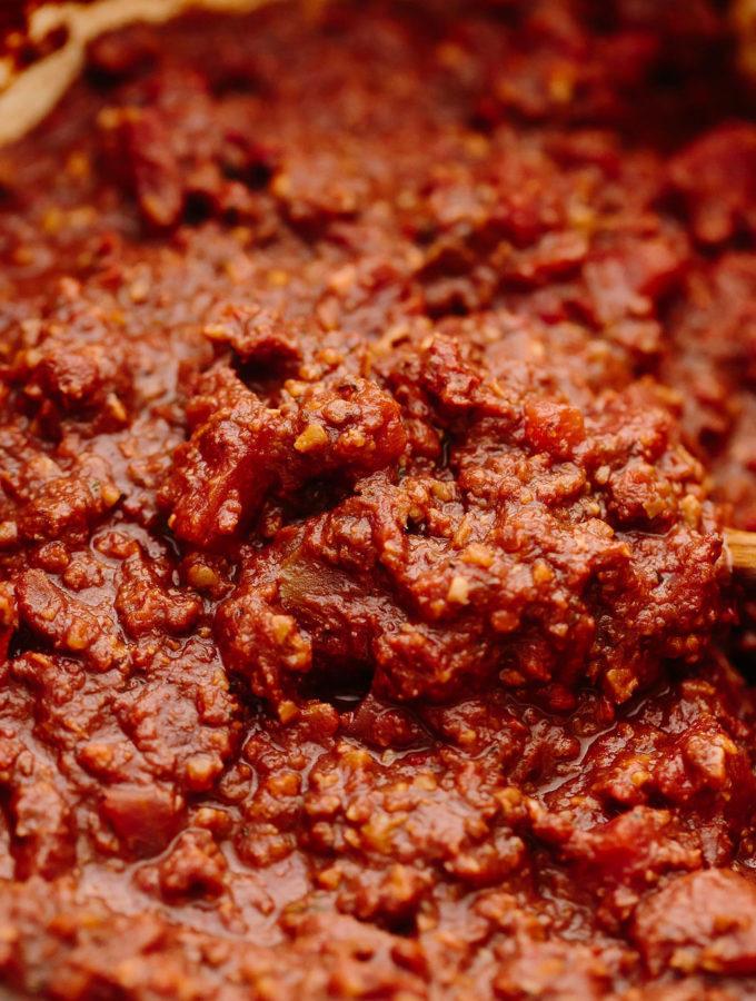 Vegan Walnut Bolognese Sauce