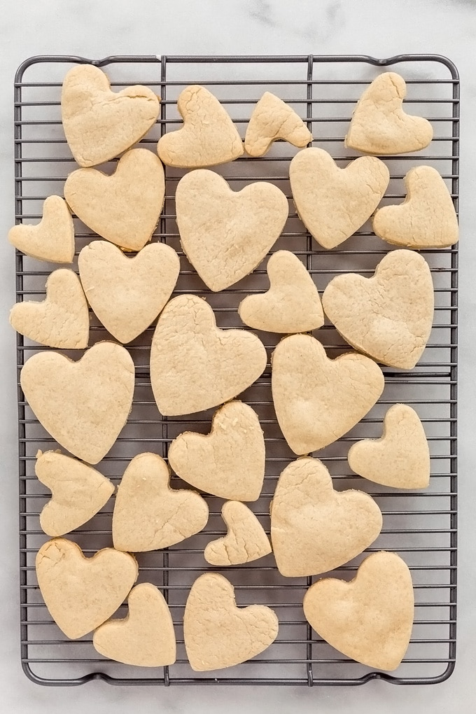 Vegan Iced Sugar Cookie Hearts