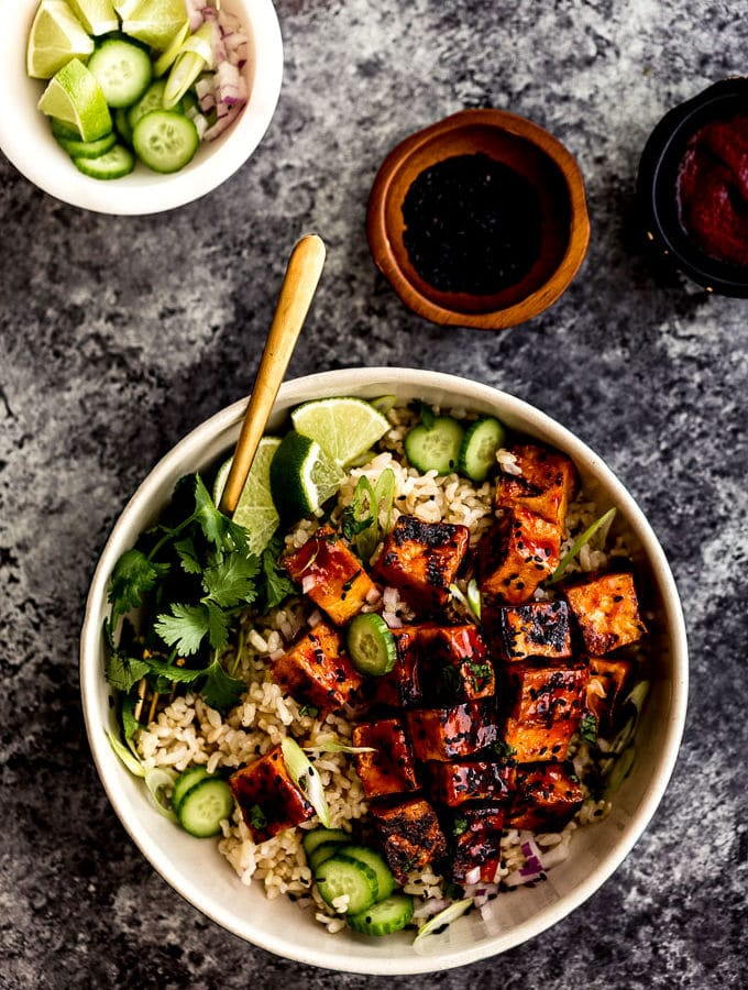 Sticky Spicy Sweet Tofu