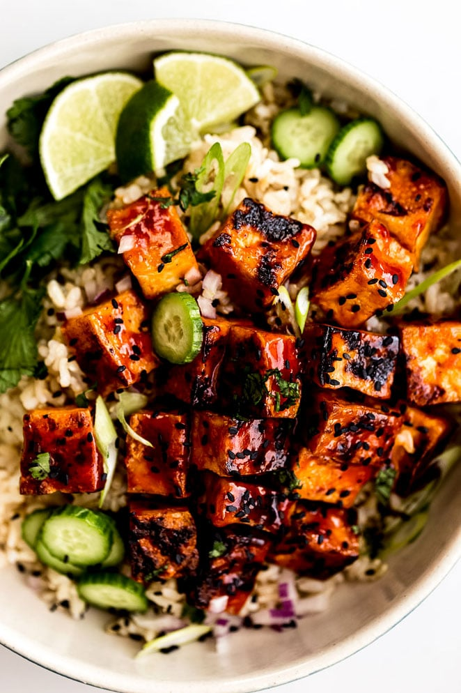 Sticky Spicy Sweet Tofu