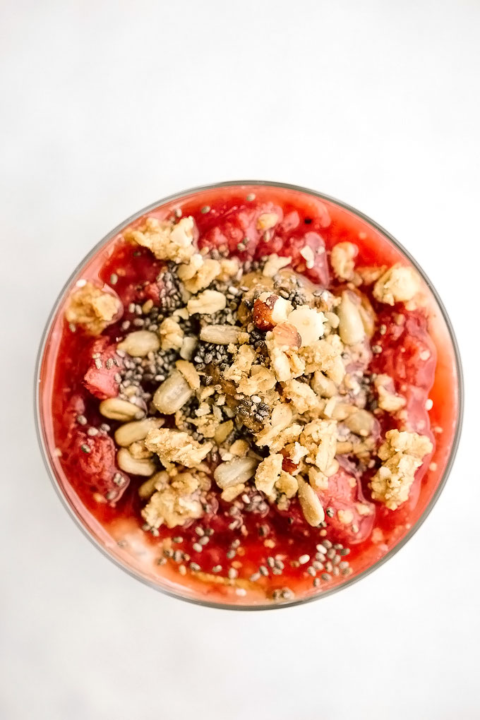 Strawberry Compote Oat Topping