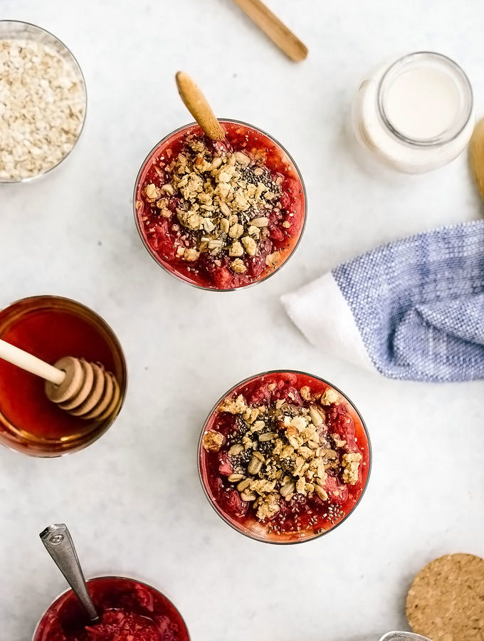 Strawberry Almond Butter Overnight Oats