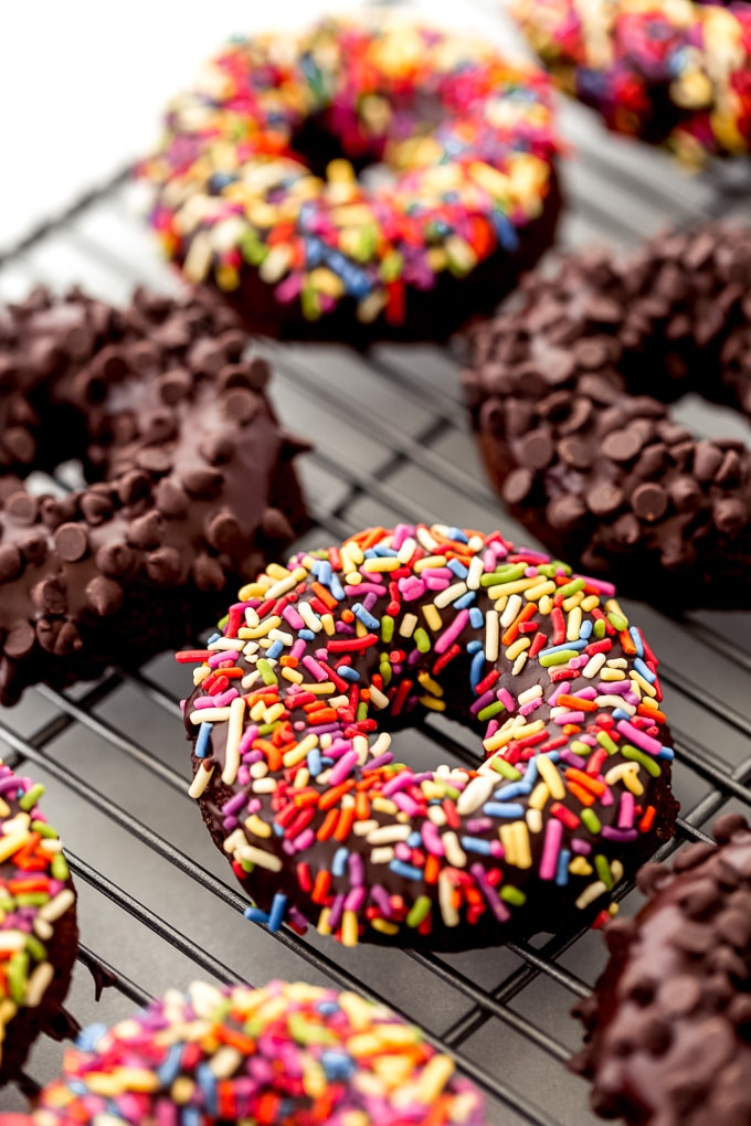 Vegan Baked Chocolate Donuts