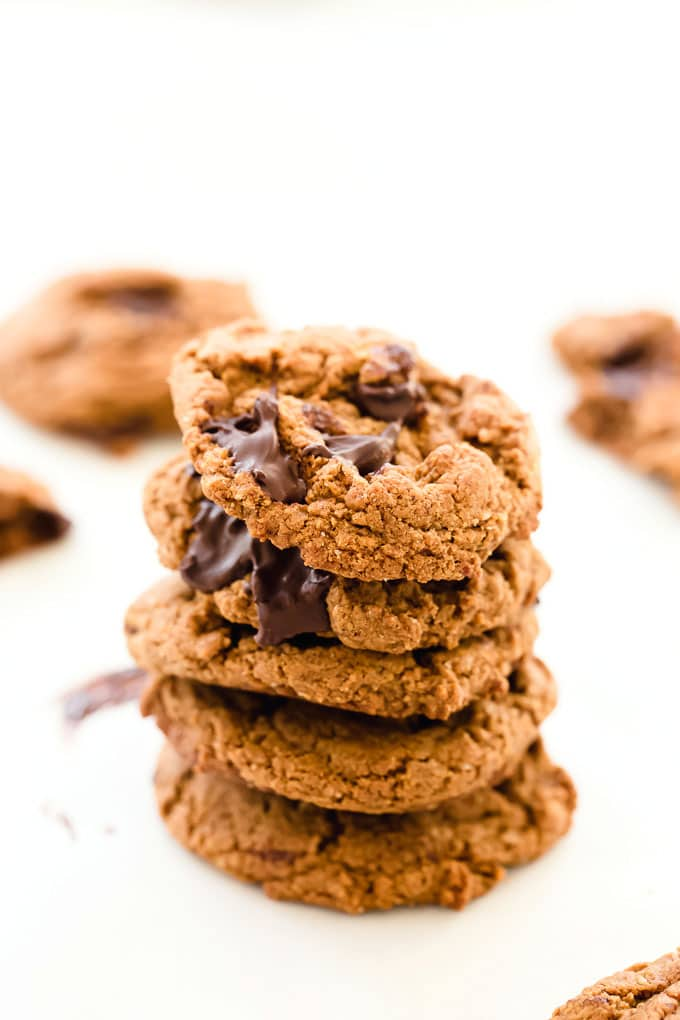 Vegan Almond Butter Chocolate Chip Cookies