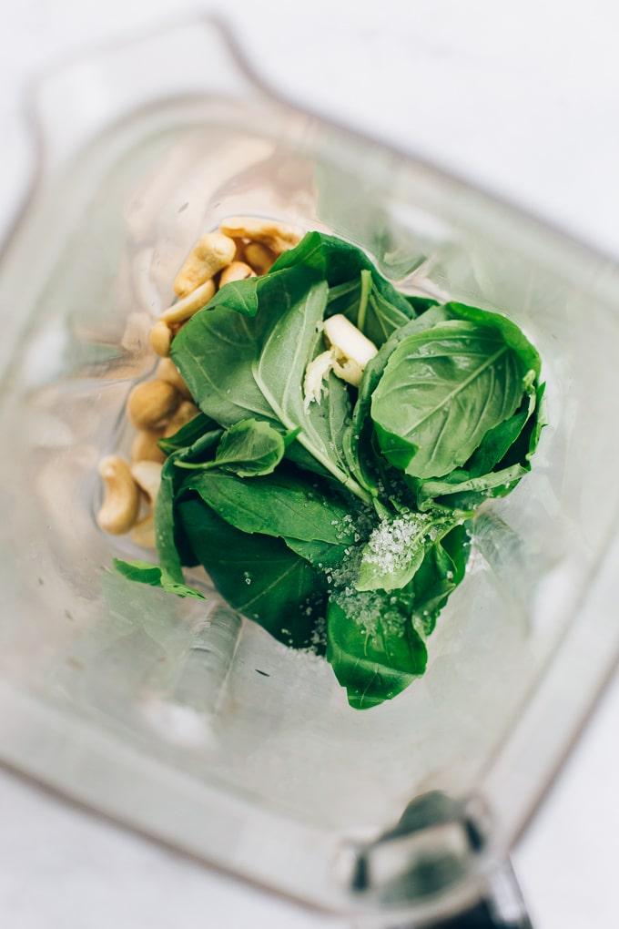 Vegan Cashew Basil Aioli
