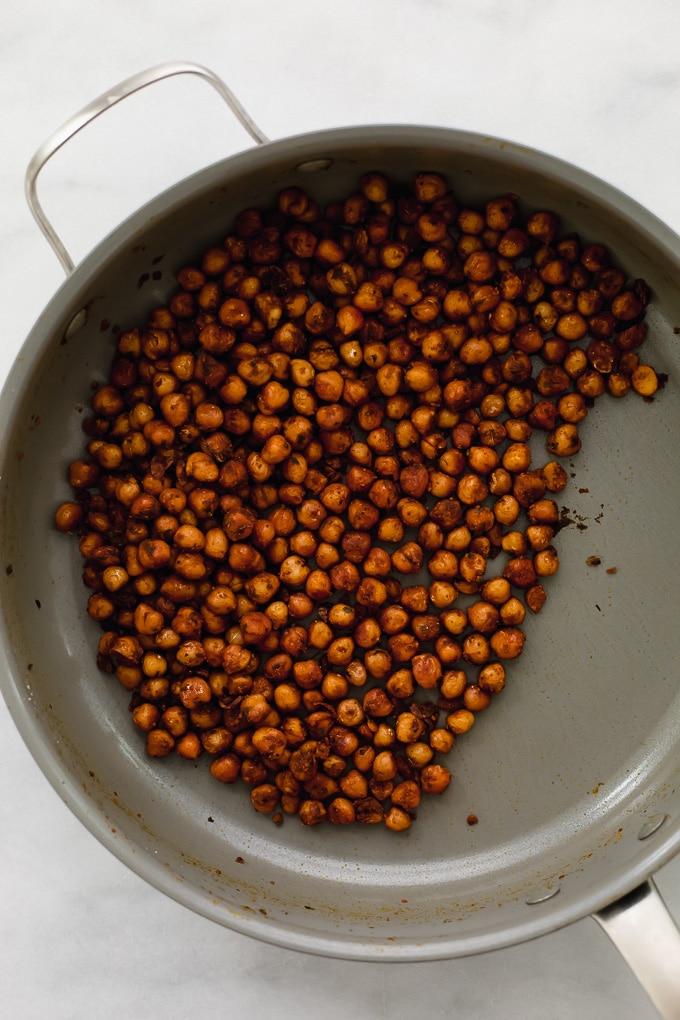 Falafel Spiced Chickpea Wraps